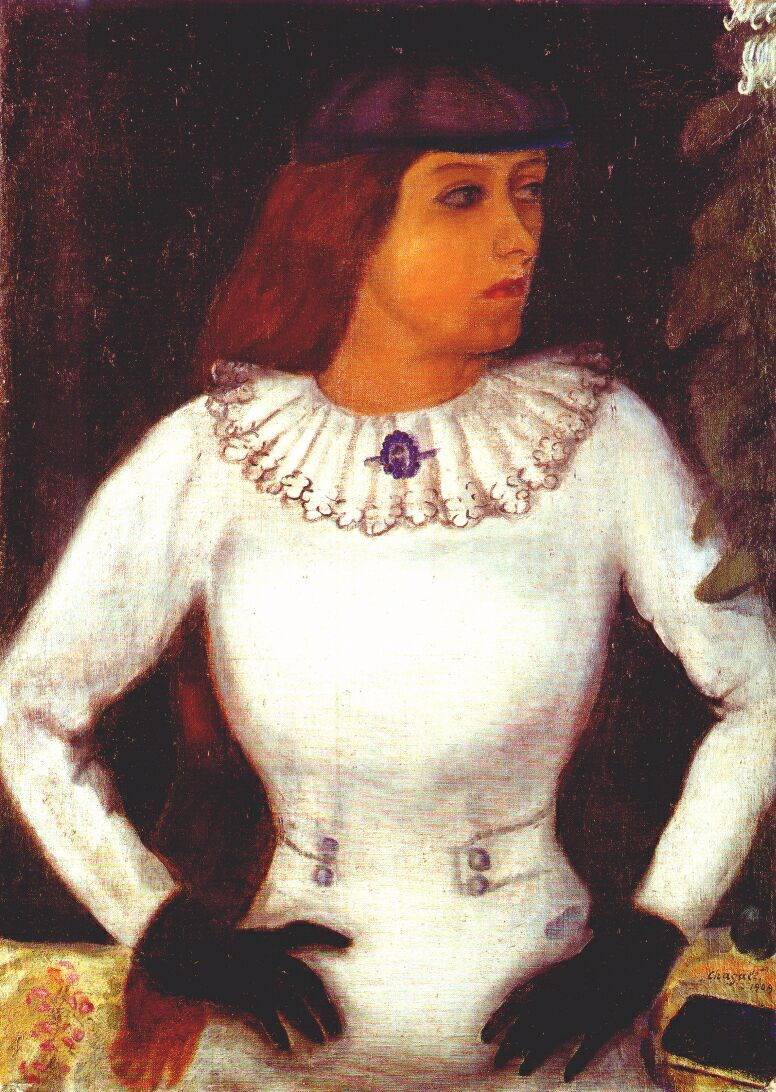 Marc Chagall. Bella in black gloves
