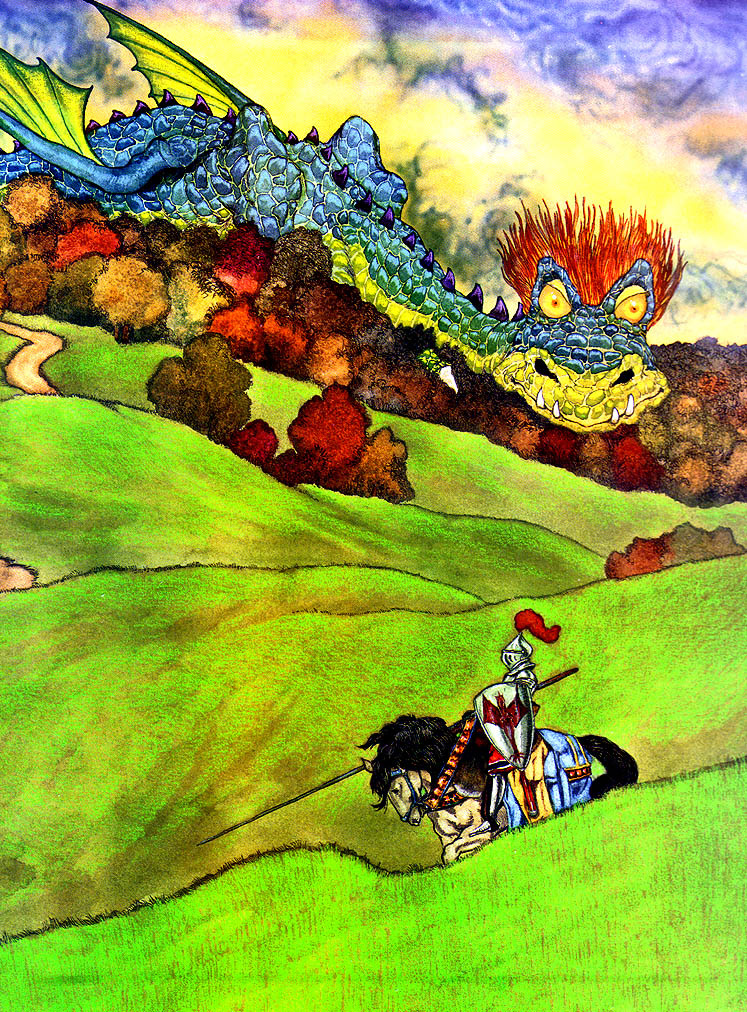 Michael haig. Dragon in the field