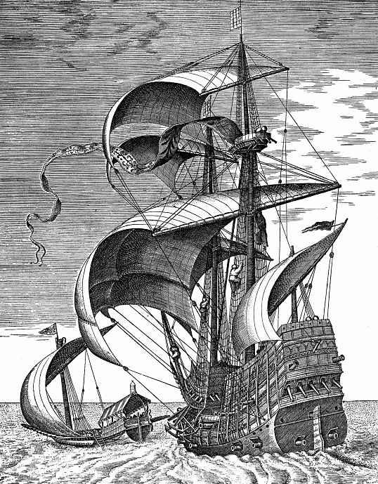 Питер Брейгель Старший. Корабль в море