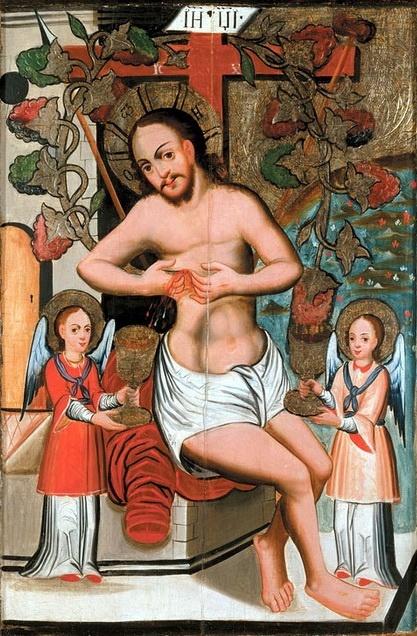 Украинский Иконописец XVIII века. Христос - Виноградная лоза
