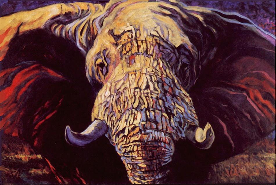 Terry Lee. Big elephant
