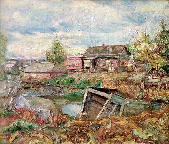 Давид Давидович Бурлюк. Сельский пейзаж