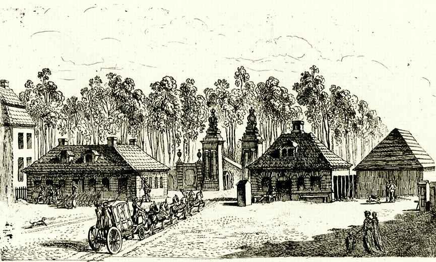 Даниэль  Николай Ходовецкий. Бранденбургские ворота в Берлине