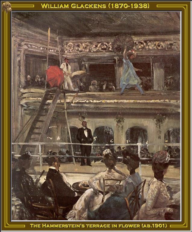 William James Glacens. Terrace in colors