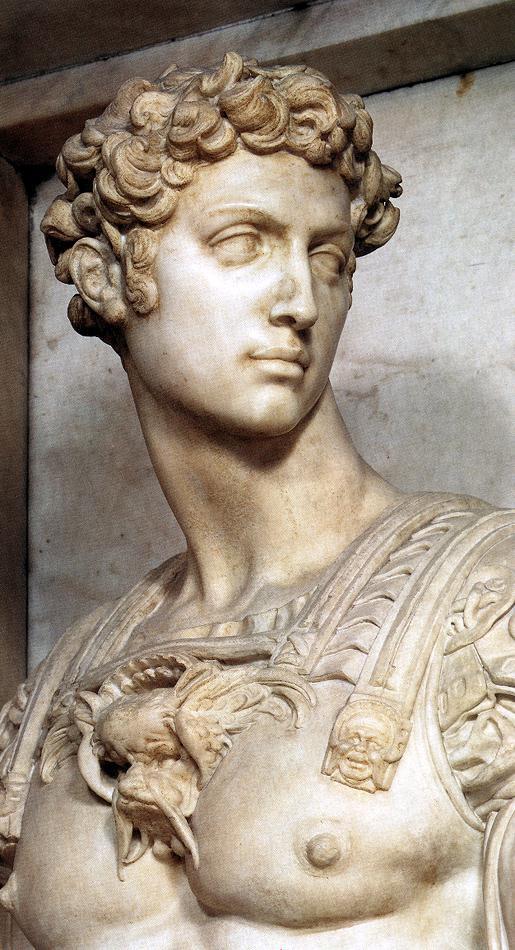 Микеланджело Буонарроти. Гробница Джулиано Медичи. Джулиано Медичи. Фрагмент