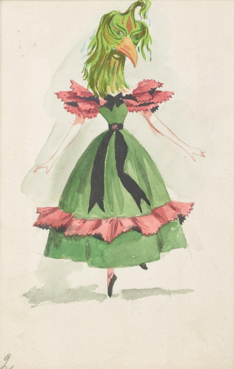 """Dorothea Tanning. Lady birds. Costume design for the ballet """"Night shadow"""""""
