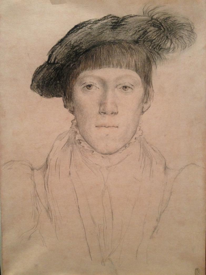 Анастасия Корниенко. Копия портрета юноши ( оригинал- Ганс Гольбейн Младший )
