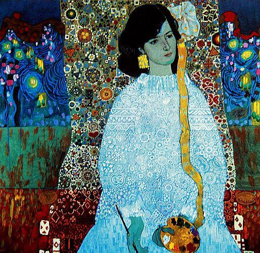 Victor Ivanovich Zaretsky. Portrait Of Ivanna Moskovka