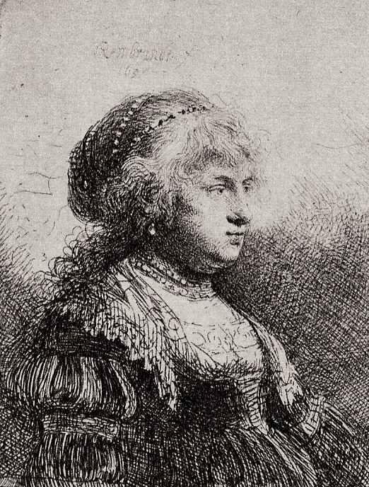 Рембрандт Ван Рейн. Портрет Саскии в нарядном платье