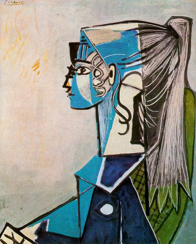 Пабло Пикассо. Портрет Сильветт Давид в зеленом кресле