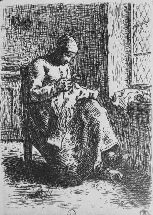 Жан-Франсуа Милле. Женщина за рукодельем