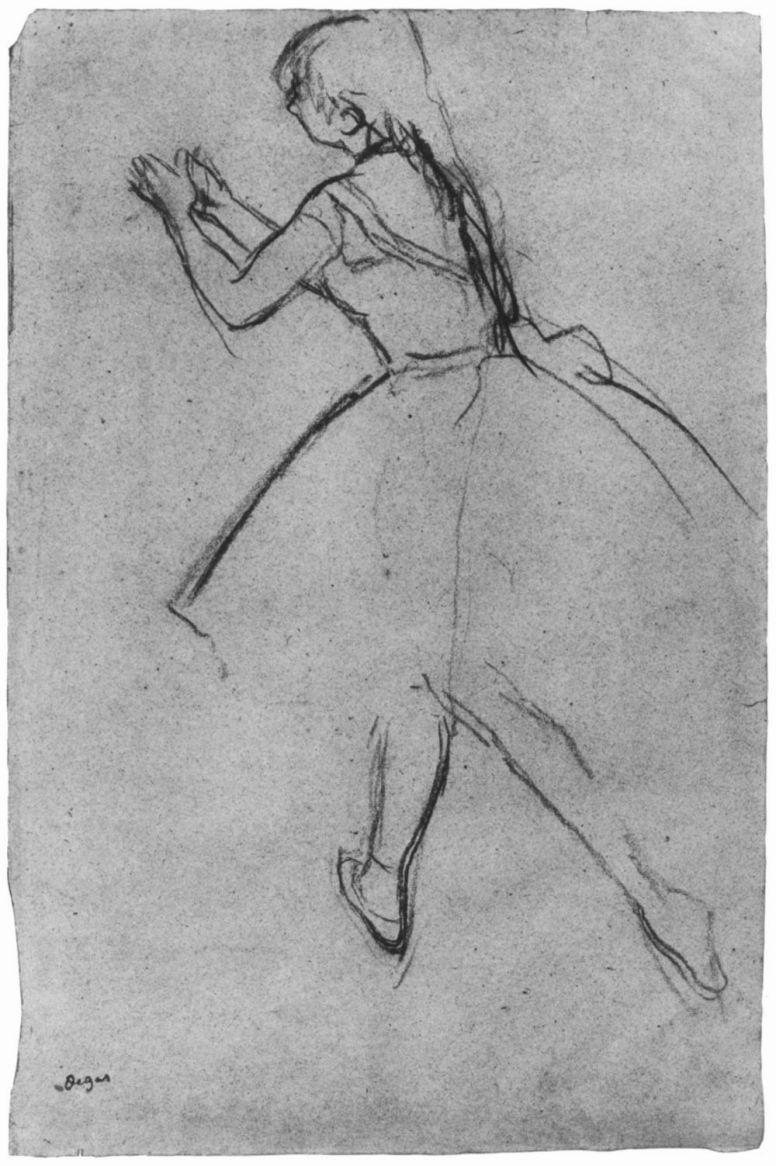 Edgar Degas. Ballet dancer in position