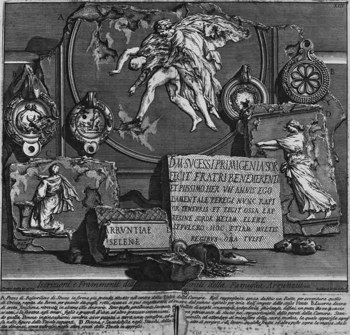 Джованни Баттиста Пиранези. Надписи и фрагменты из гробницы семьи Аррунцио