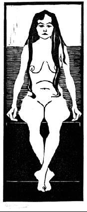 Мауриц Корнелис Эшер. Сидящая обнаженная2