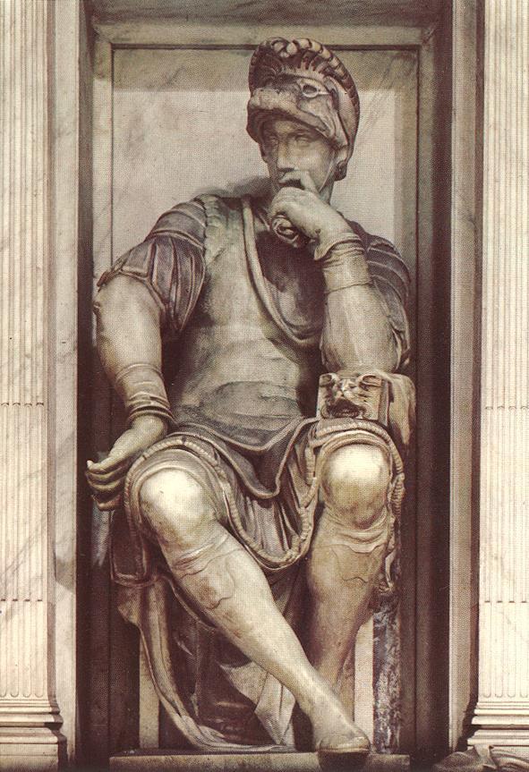 Микеланджело Буонарроти. Гробница Лоренцо Медичи. Лоренцо Медичи