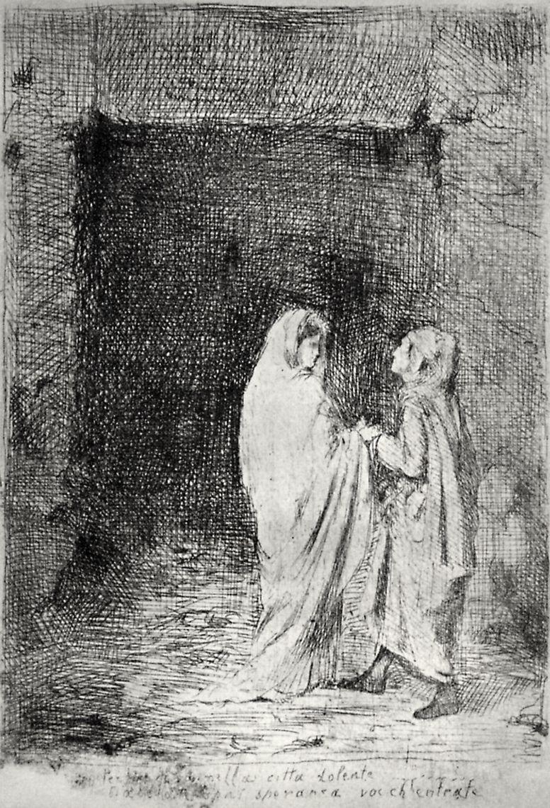 Edgar Degas. Dante and Virgil