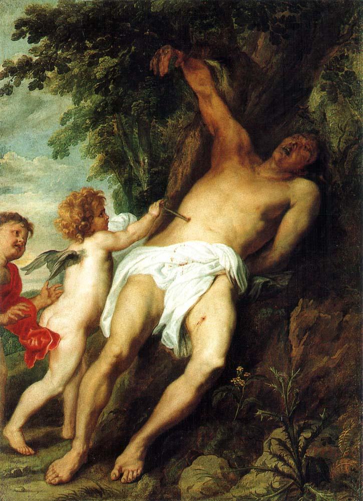 Anthony van Dyck. Angels heal St. Sebastian
