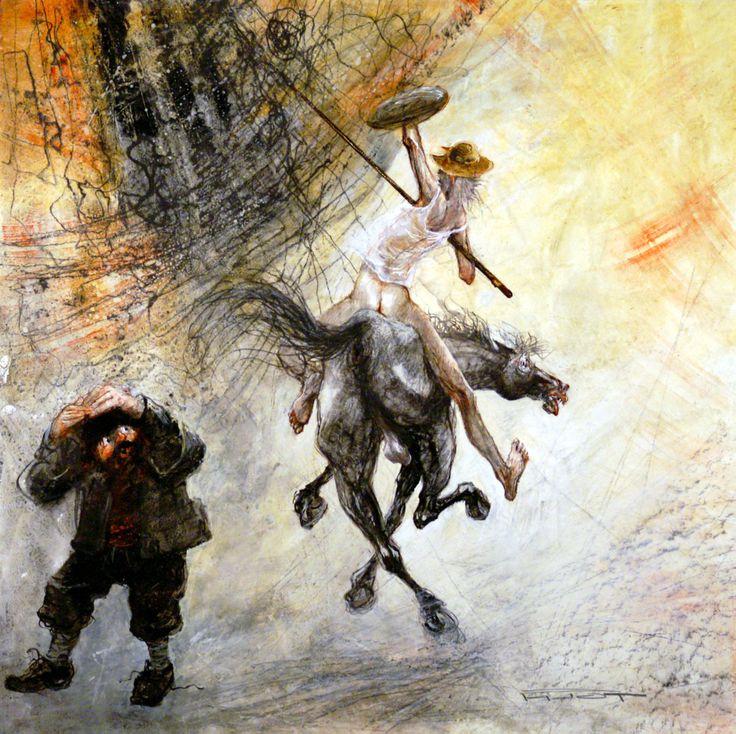 Marcel Pajot. The black sun of don Quixote