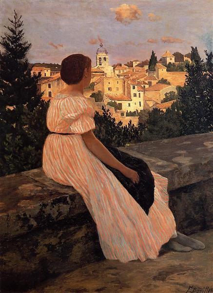 Фредерик Базиль. Розовое платье
