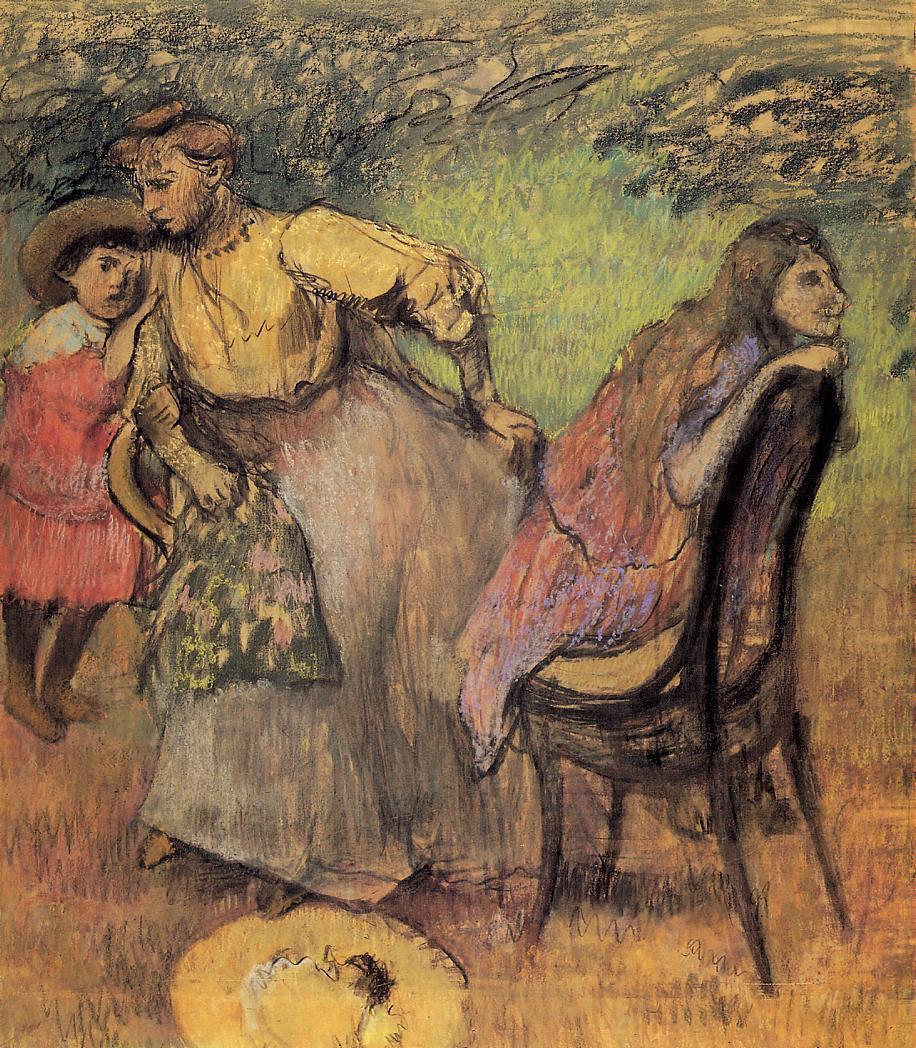 Эдгар Дега. Мадам Алексис Руар и ее дети