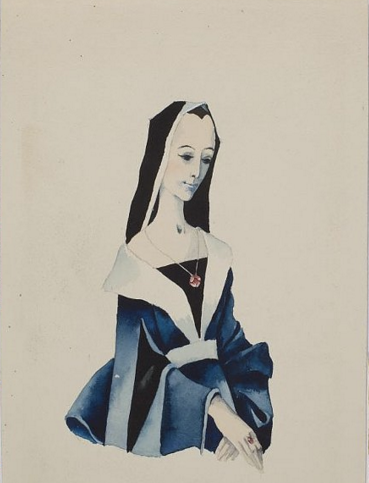 Монахиня. Иллюстрация к книге «Сказки и истории» Ганса Христиана Андерсена