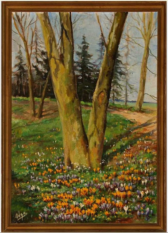 Olga Alexandrovna Romanova. Crocuses bloom