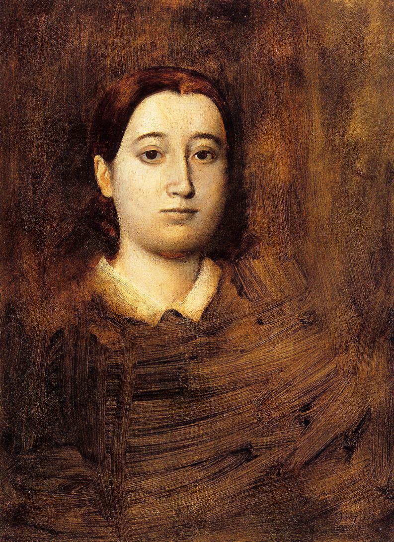 Edgar Degas. Portrait of Madame Edmondo, Morbilli, nee Therese de GA