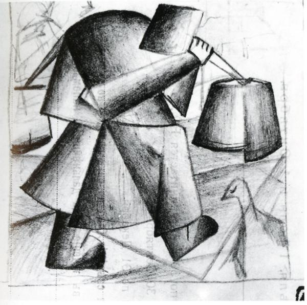 Kazimir Malevich. Peasant woman with buckets