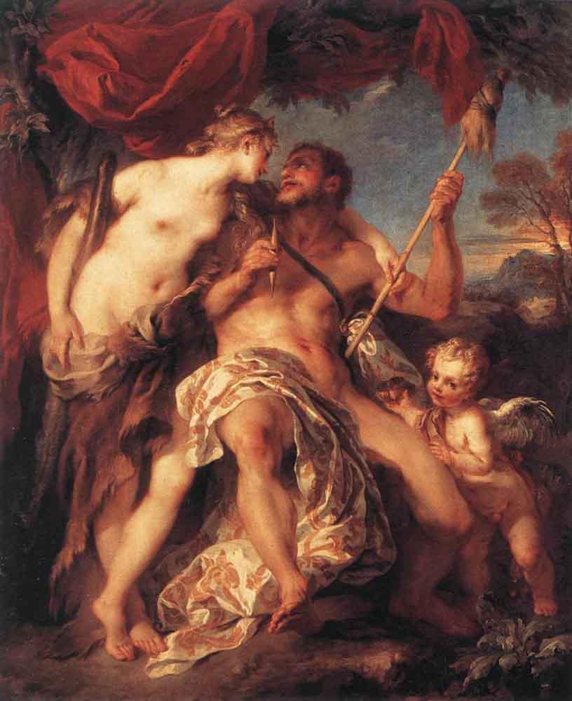 Francois Lemoine. Hercules and omfala