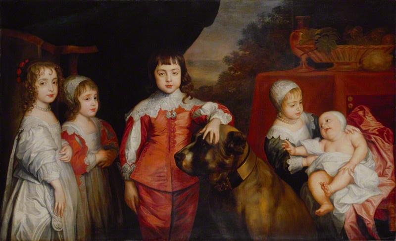 Anthony van Dyck. Five children of king Charles I