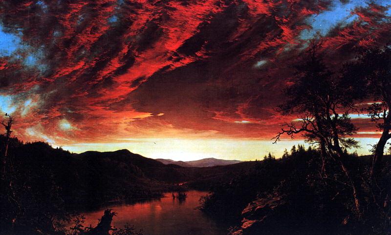 Фредерик Эдвин Церкви. Огненное небо