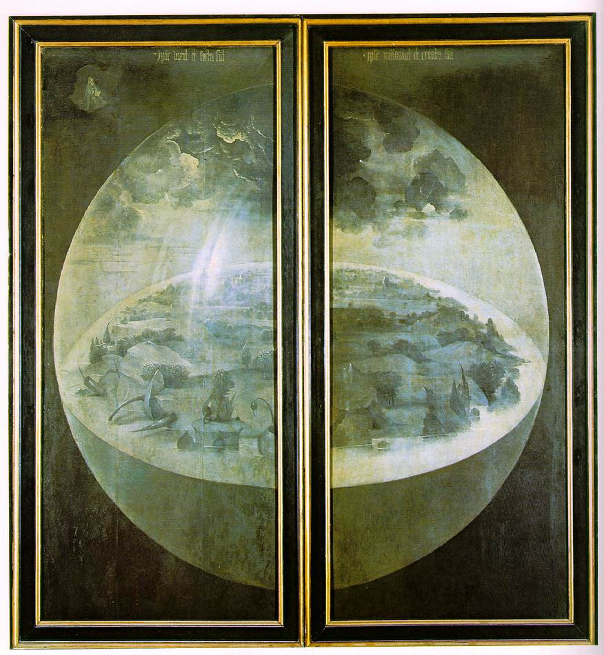 Hieronymus Bosch. The garden of earthly delights. The Creation Of The World. External doors