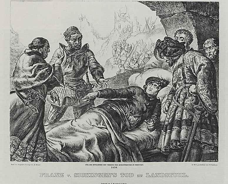 Адольф фон Менцель. Смерть Франца фон Зикингена