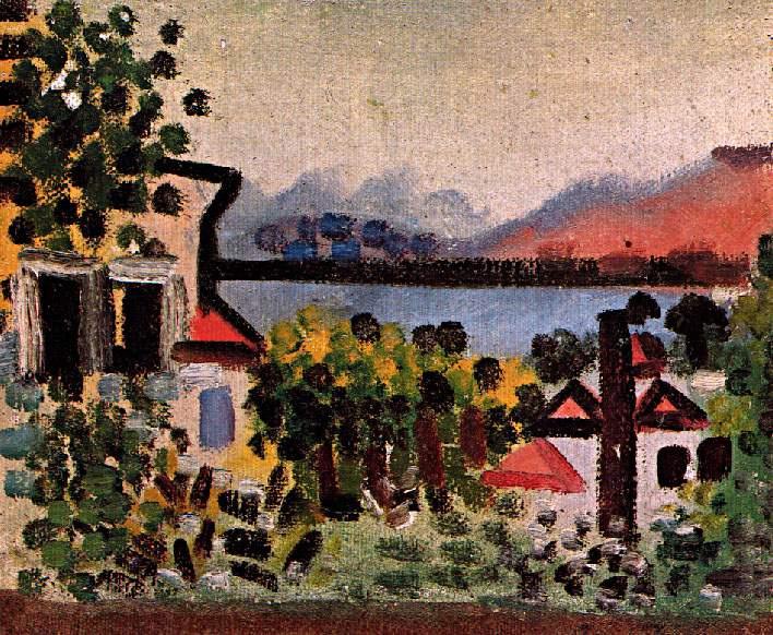 Пабло Пикассо. Пейзаж в Хуан-Ле-Пин