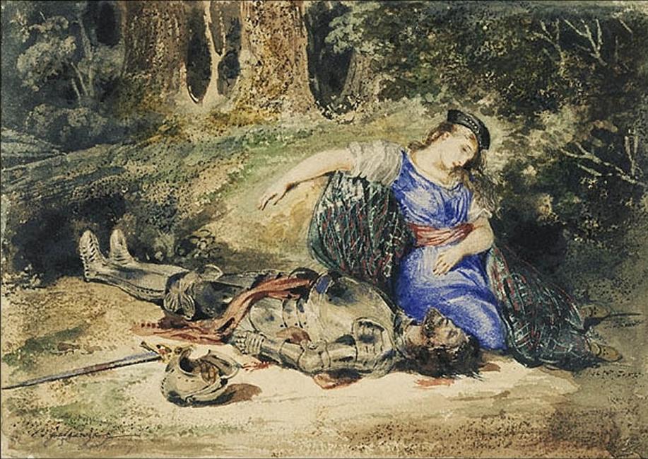 Eugene Delacroix. The Death Of Lara