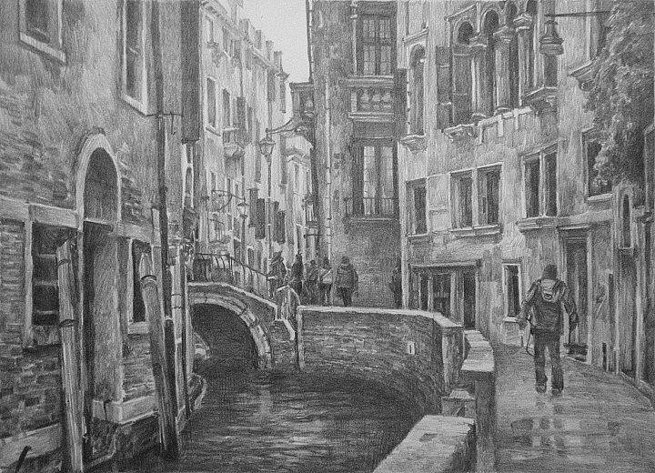 Oleg Borisovich Zakharov. Autumn. Venice.