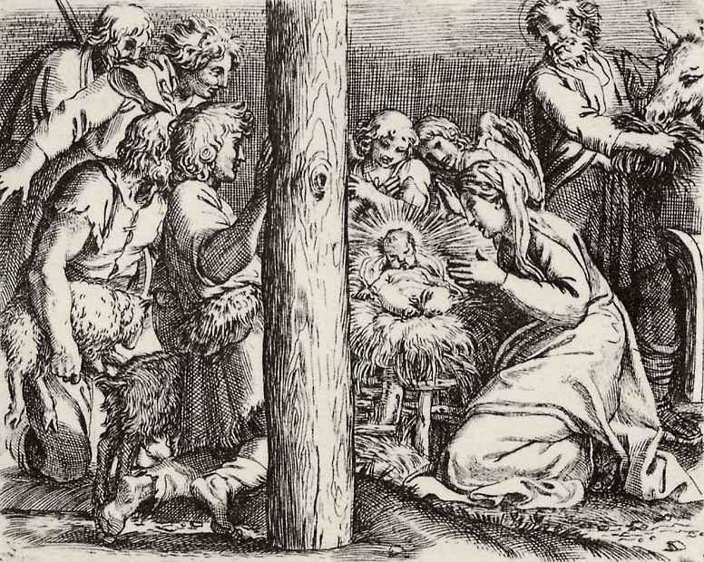 Аннибале Карраччи. Поклонение пастухов