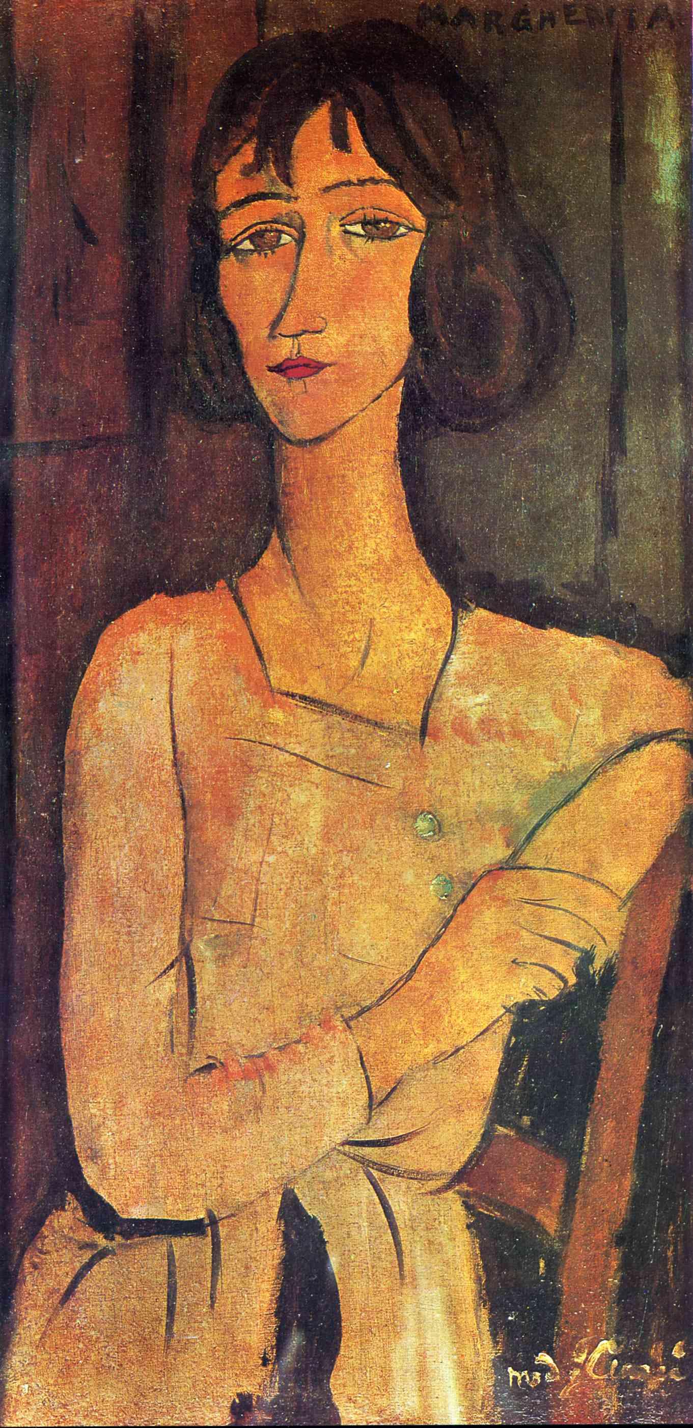 Amedeo Modigliani. Portrait of a seated Margarita
