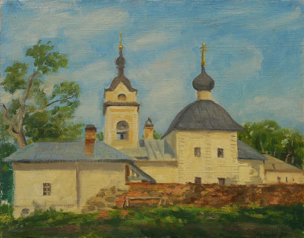 "Сергей Григорьевич Коваль. ""monastery of our lady of Kazan"" . Kanevets, lake Ladoga H. M."