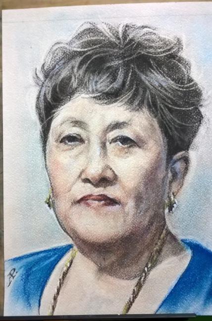 Anatoly Alexandrovich Rybakov. Female portrait