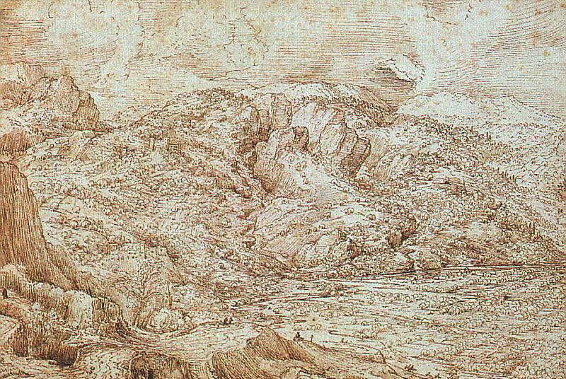 Питер Брейгель Старший. Пейзаж в Альпах