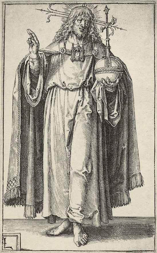 Лукас ван Лейден (Лука Лейденский). Христос и апостолы