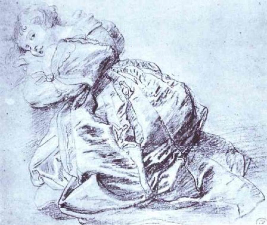 Питер Пауль Рубенс. Молодая женщина на коленях
