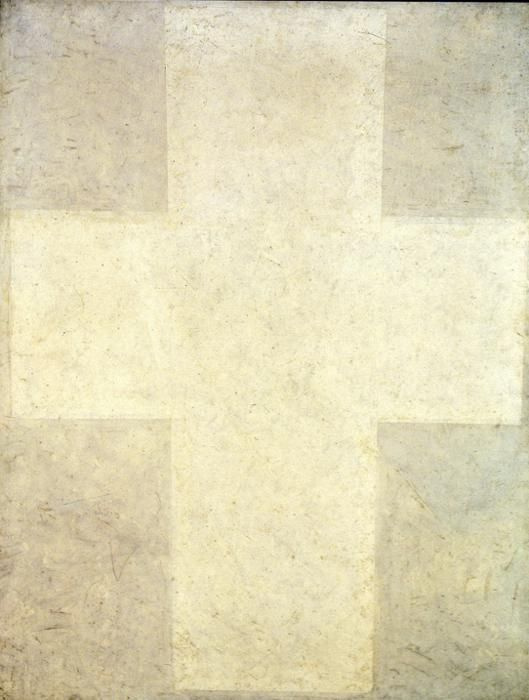 Kazimir Malevich. The White Suprematist Cross