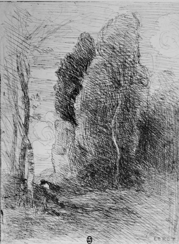 Camille Corot. Peekaboo