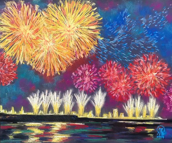 Larissa Lukaneva. Fireworks.