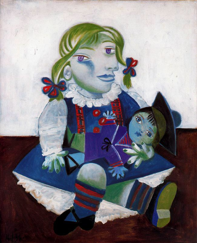 Пабло Пикассо. Майя с куклой