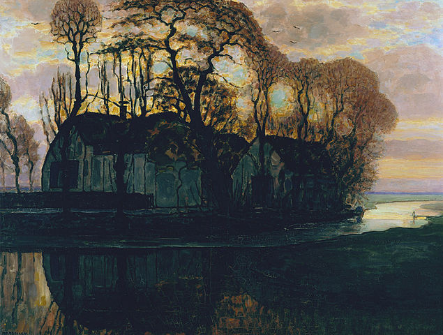 Piet Mondrian. The farm in Duivendrecht at night