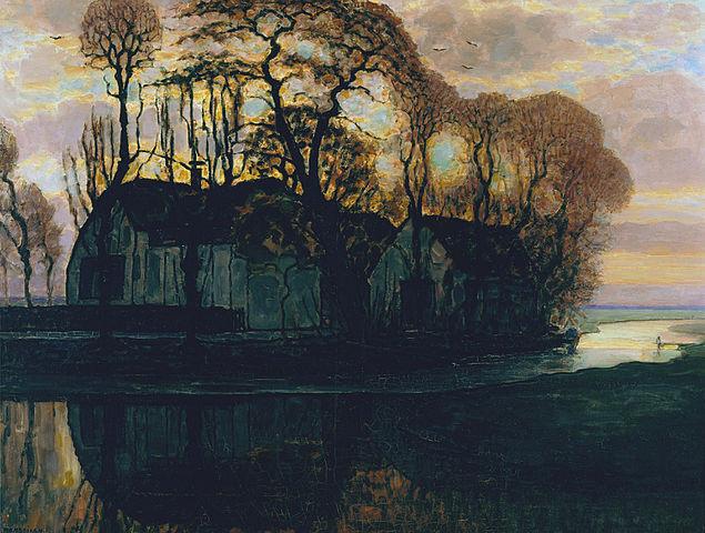 Piet Mondrian. The farm in Duivendrecht at night