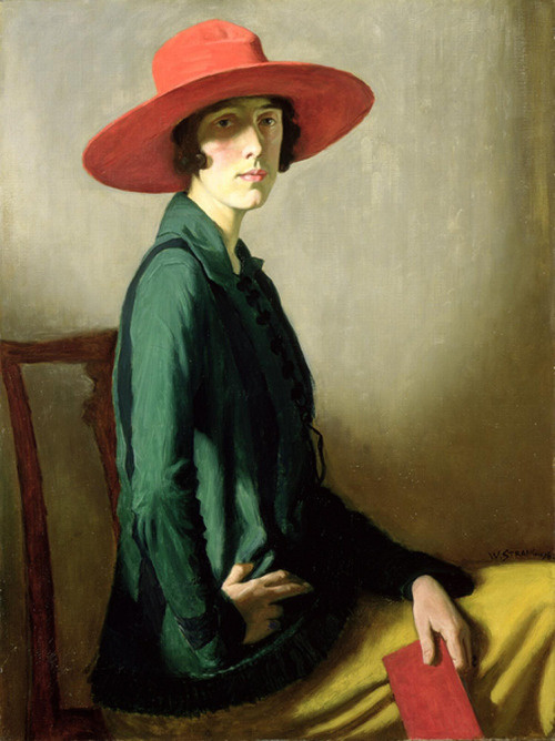 William Strang. The lady in the red hat